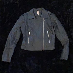 Decree Pleather Zip Up Jacket